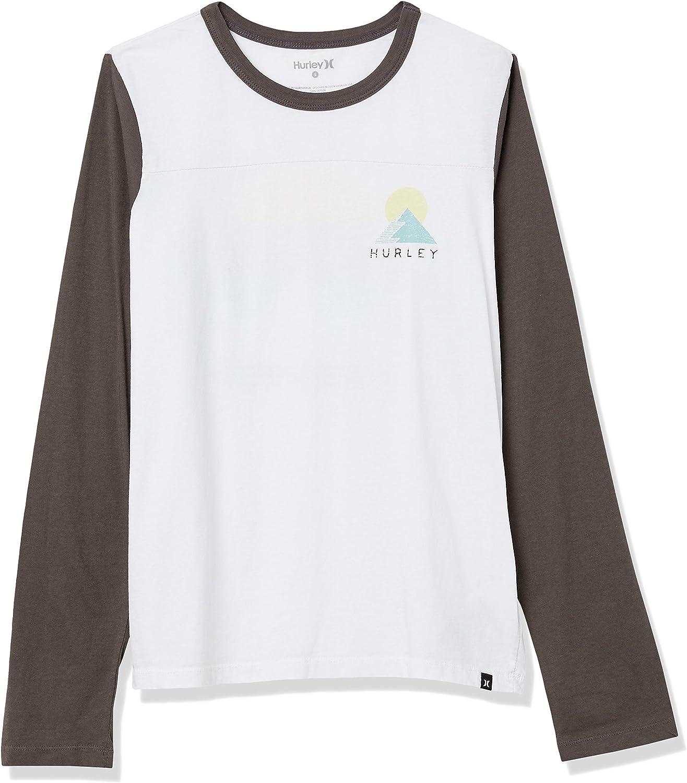 Hurley Women's Breckens Blocked Long Sleeve Tshirt