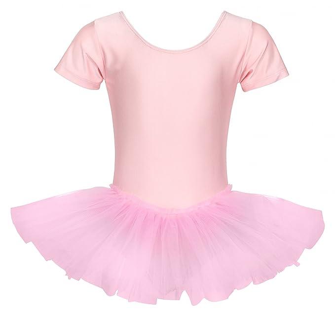tanzmuster Kinder Ballett Trikot Ballettanzug Alina mit Tutu-Röckchen - Balletttutu aus 3-lagigem Tüll. Zauberhaftes Ballettk