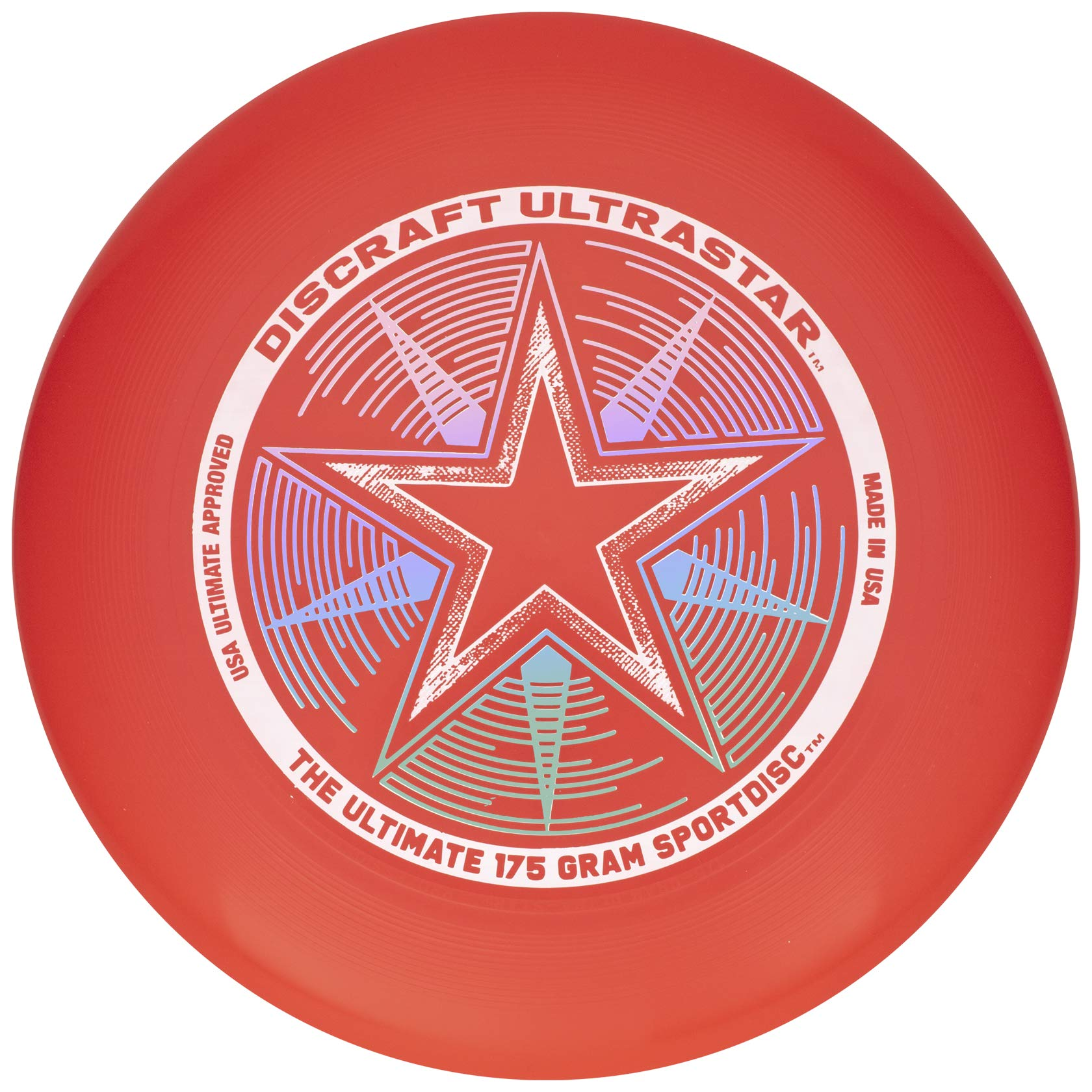 Discraft 175 Gram Ultra Star Sport Disc 175g Ultra Star Sport Disc, Bright Red by Discraft