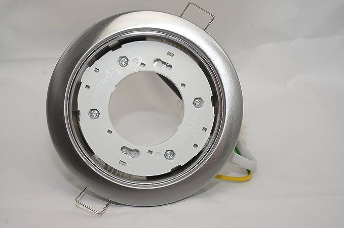 GX53 instalación casquillo redondo tipo cromo para bombilla LED o de bajo consumo