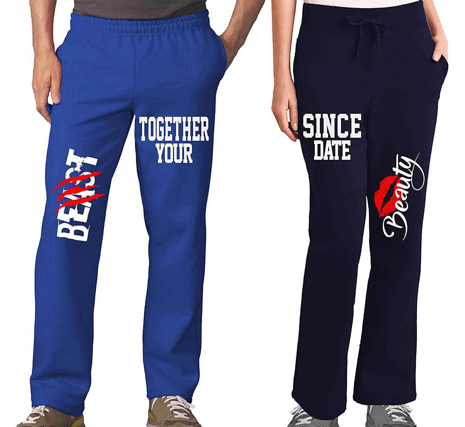 Beauty and Beast Couples Pajama Pants & Bottoms - Couple Outfit for Men & Women CA627AA00