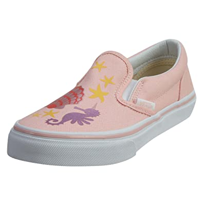 99823eff75 Vans Classic Slip-On (Mermaid) Pink Metallic