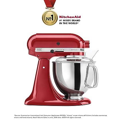 KitchenAid Artisan Series 5KSM150PSDER 300 - Watt Tilt Head Stand Mixer 4 8  Litre - Empire Red