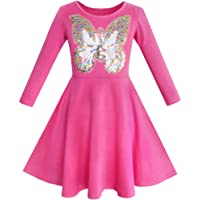 Sunny Fashion Girls Dress Owl Ice Cream Butterfly Sequin Everyday Dress Size 7-14 Years