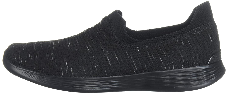 Skechers Women's You Zen Wide Sneaker B072N1YR2R 12 W US|Black