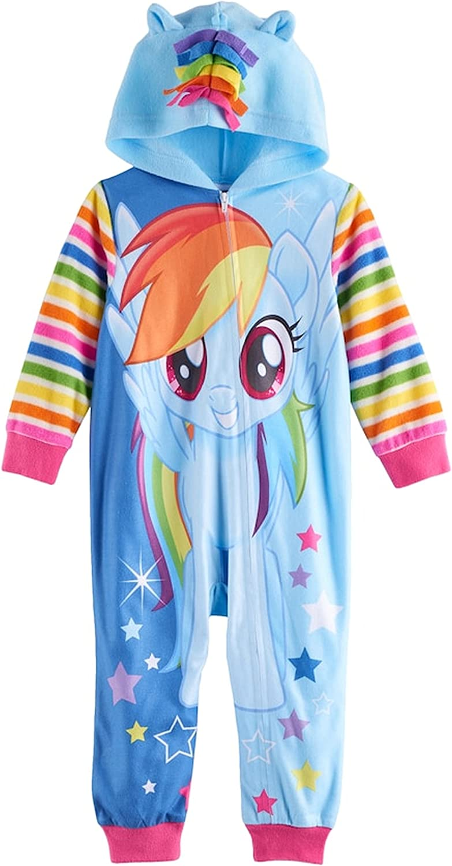 My Little Pony Rainbow Dash Hooded Footless Pajamas Toddler Girl