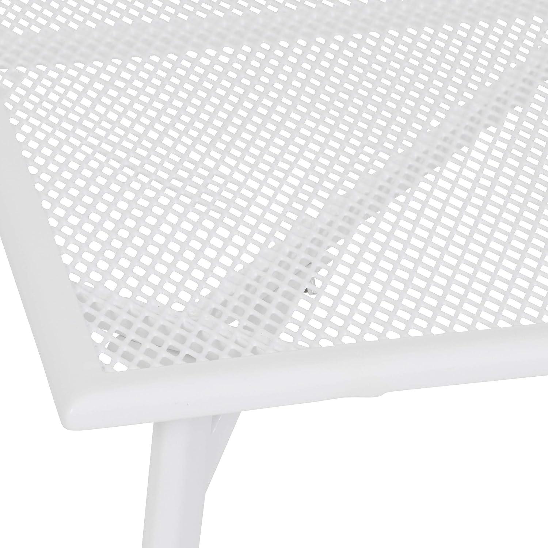 greemotion Tisch Toulouse, Stahl, kleiner Tisch in Weiß, ca. 90 x 74 x 90 cm