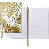 Hallmark Signature Gold Softcover Journal (Gold Palm Print)