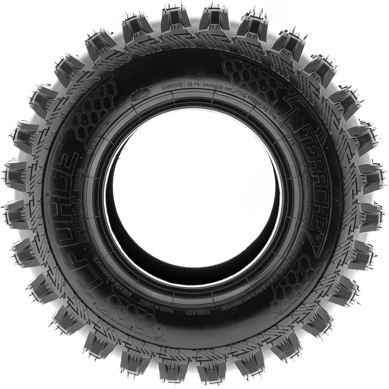 TERACHE T-Force MX ATV UTV All Terrain Tires 18x10-8 18x10x8 Tubeless Race Premium 6 Ply, Set of 2