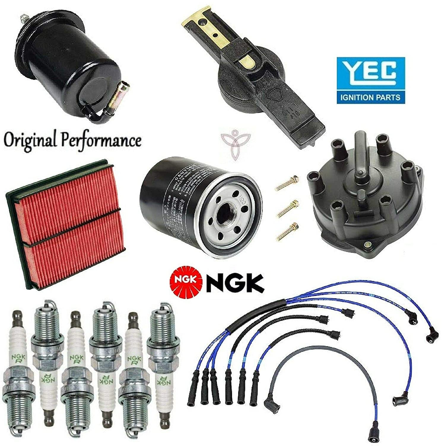 Tune Up Kit Filters Cap Rotor Plugs Wire for Mazda MPV V6 3.0L 1996-1998