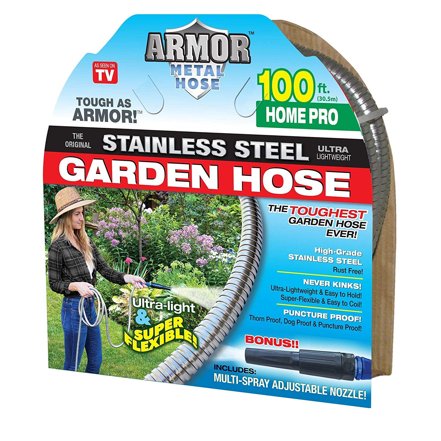 Stainless Steel Metal Hose (100' Armor Home Pro)