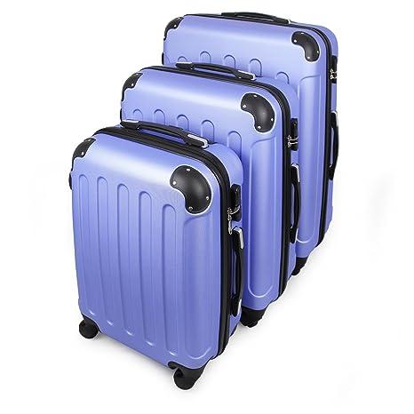 4b3f26972 Todeco - Juego de Maletas, Equipajes de Viaje - Material: Plástico ABS -  Tipo