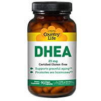 Country Life - Dhea (Dehydroepiandrosterone), 25 mg, 90 Capsules