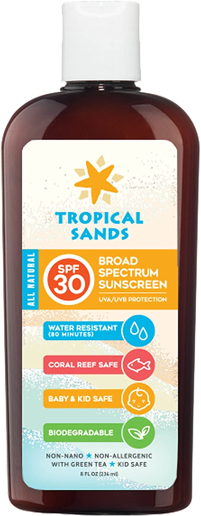 Tropical Sands All Natural Biodegradable Water Resistant Sunscreen ...