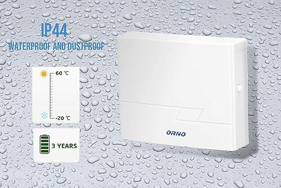 Orno or-db-il-128/Sonnette sans fil dext/érieur /étanche IP44/sans fil