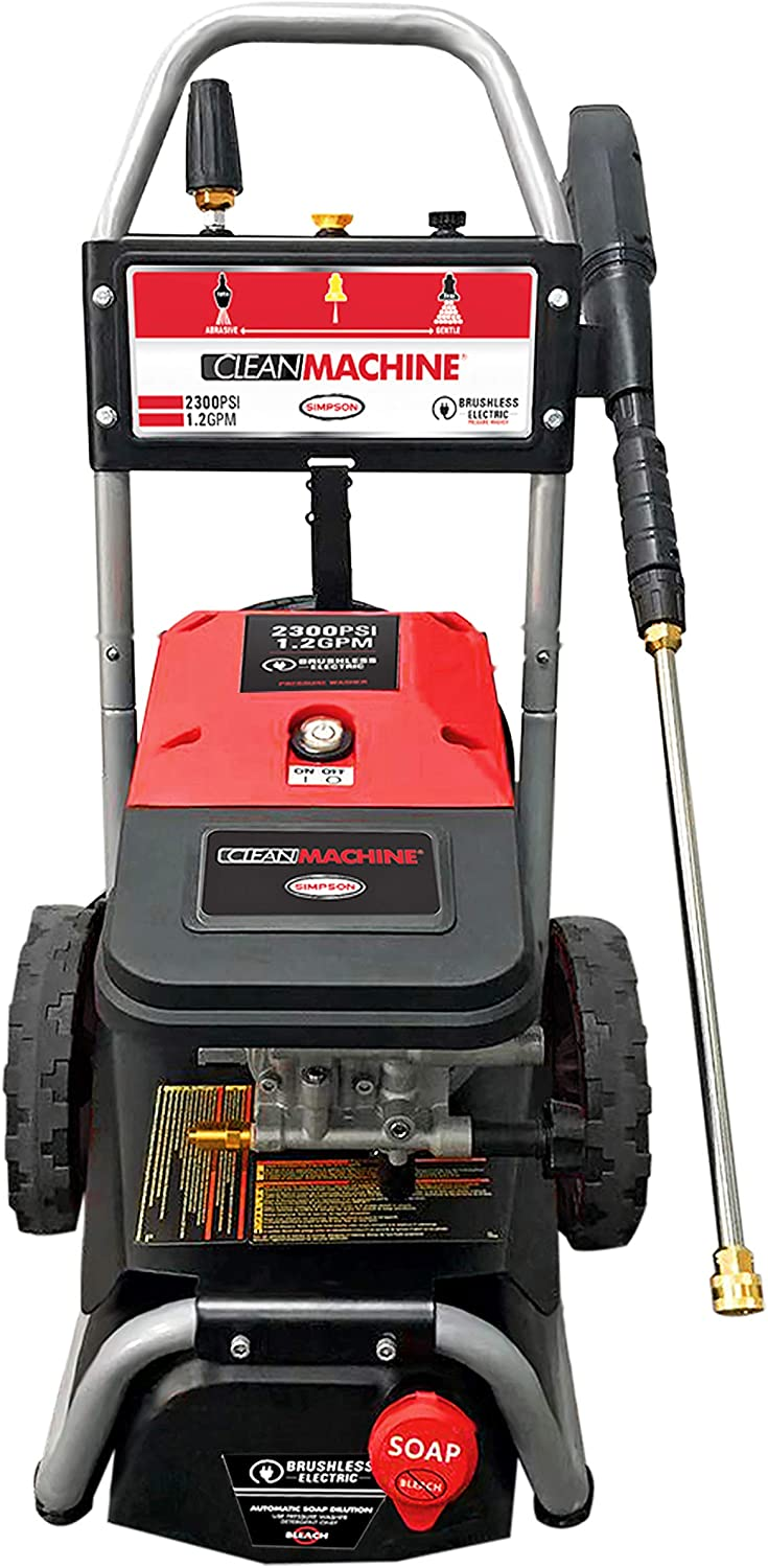 Kazila Electric Pressure Washer 2100PSI 1.8 GPM Power Pressure Washer Cleaner Machine with Spray Gun, Adjustable Nozzles, Onboard Detergent Tank