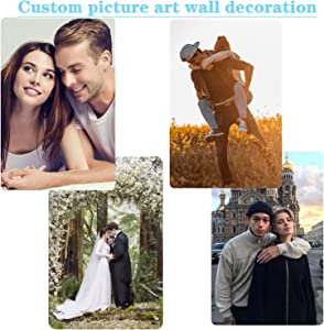 Customize Photo Pattern Wall Home Decor painting Personalized Metal Print Photos Custom Metal Print Picture Wall Art Photo Vertical version The perfect gift for friends and family