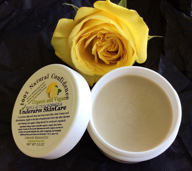 Amazon.com: All Natural Underarm Lightening & Brightening Deodorant Triple Action Cream - Armpit Whitening, Milk of Magnesia 24 hr Deodorant, and Clay Power ...