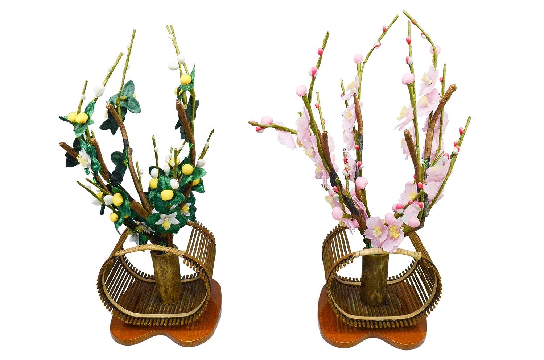 桜橘「すだれ井垣(中)」(雛祭り用 飾り花) 中  B00RWUVCLC