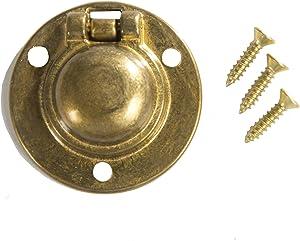 "Flush Ring Pull Round 1-1/2"" Brass"