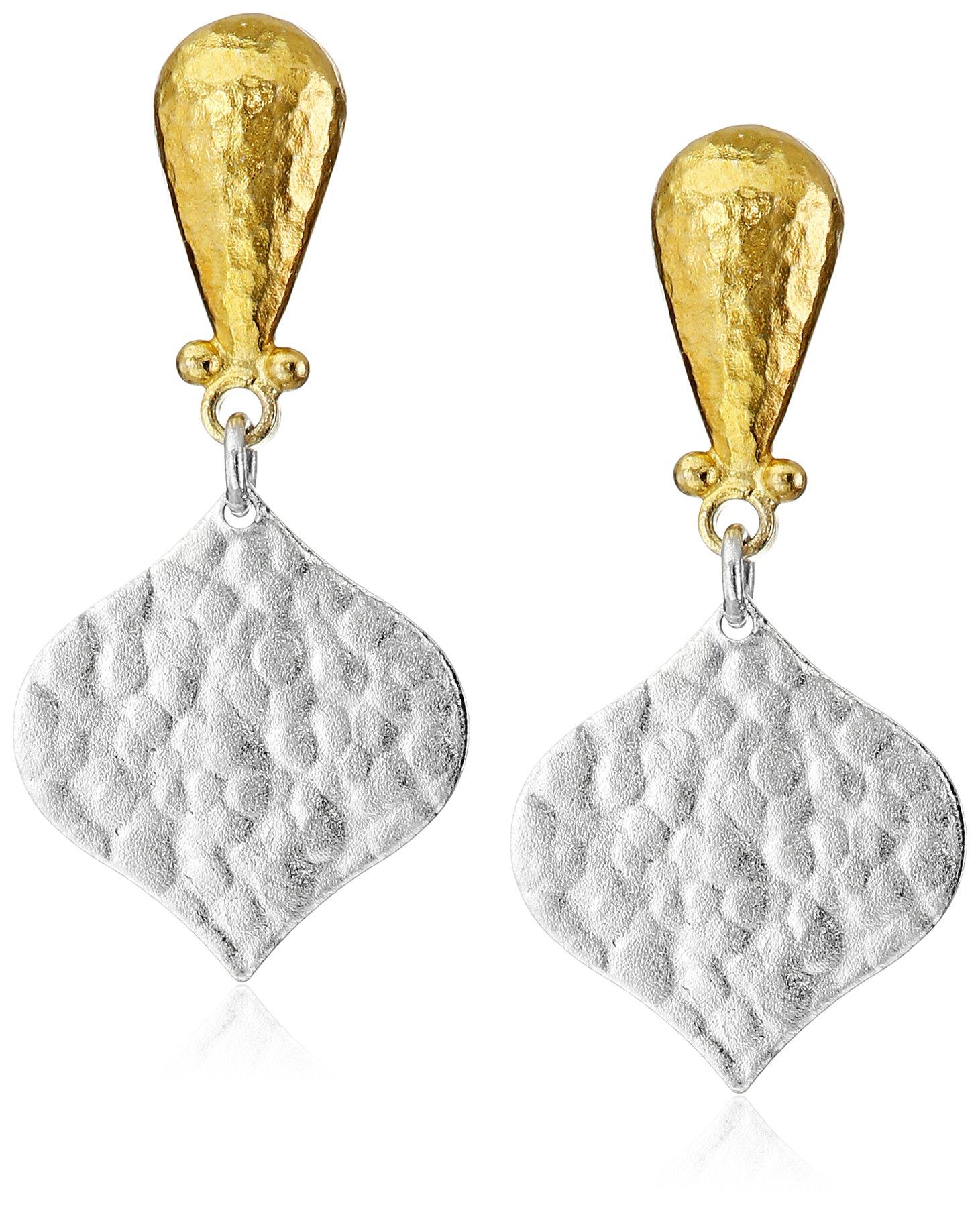 GURHAN ''Clove'' Sterling Silver Pear Top Drop Earrings by Gurhan (Image #1)
