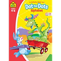 School Zone - Dot-to-Dots Alphabet Workbook - Ages 4 to 6, Preschool to Kindergarten, Connect the Dots, Letter Puzzles…