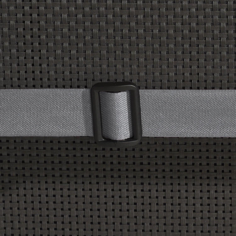 Beautissu Hochlehner Auflage Loft HL 120x50x6cm Sitzkissen R/ückenkissen mit Schaumkern-F/üllung Graphit-Grau mit Oeko-Tex in diversen Farben