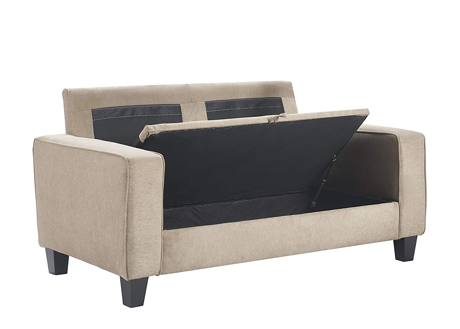 Prime Serta Uph10133E Palisades Storage Loveseat 73 Sofa Beige Gmtry Best Dining Table And Chair Ideas Images Gmtryco