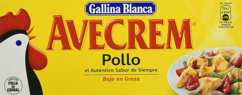 Gallina Blanca - Avecrem Caldo De Pollo 12 Pastillas 120 g - [Pack de 6]