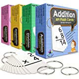 Star Right Addition, Subtraction, Division and Multiplication Flashcards with 8 Metal Binder Rings   663 Self Checking Flashc
