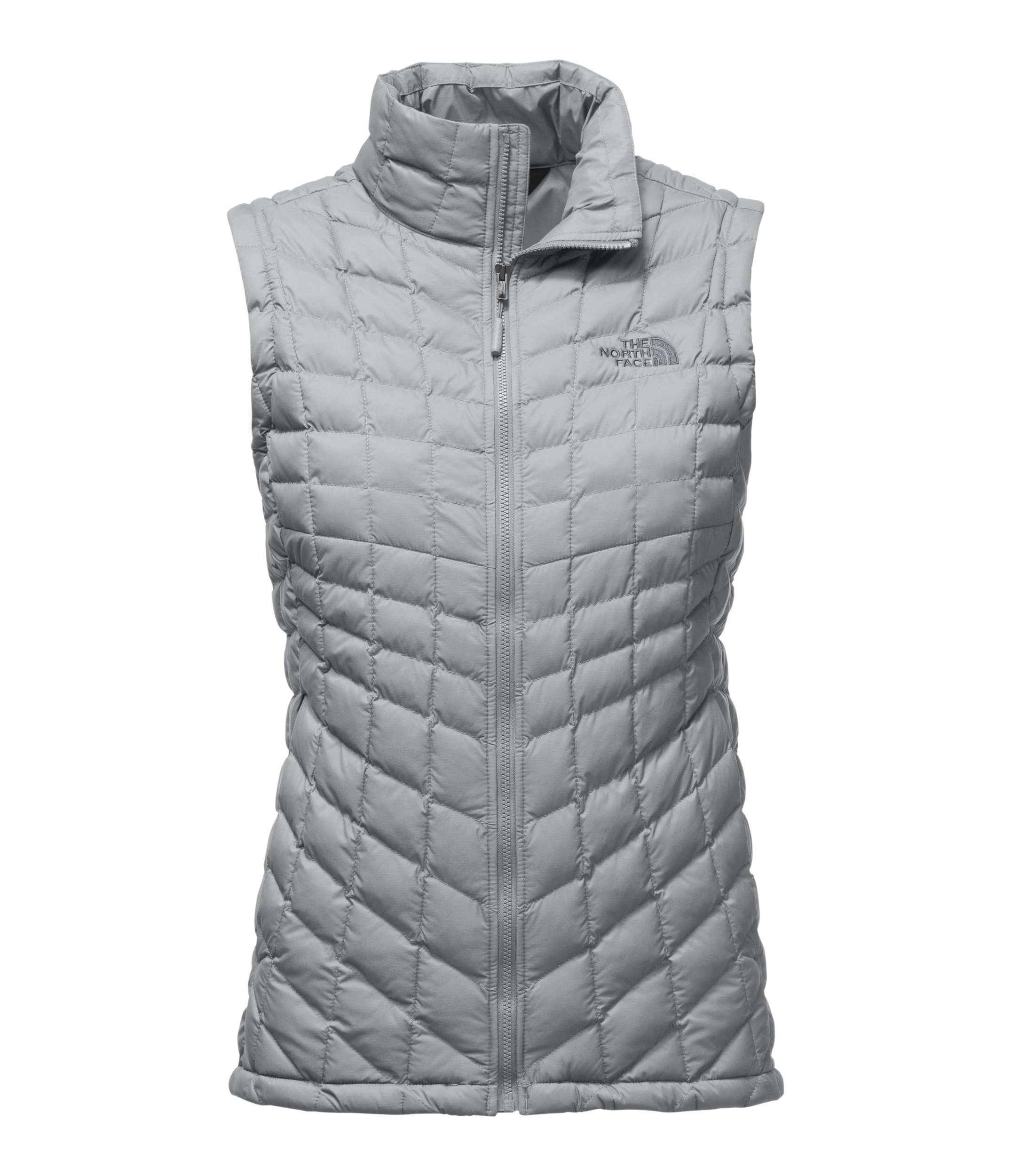 The North Face Women's Thermoball Vest High Rise Grey Matte - L