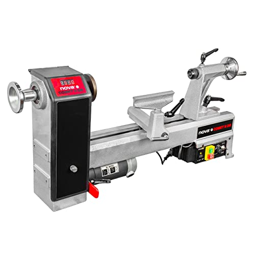Nova 71118 Comet II – Midi Lathe Flexible Woodworking System, 12 , Powerful Electronic 3 4 HP variable speed