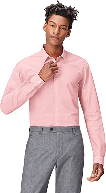 Marca Amazon - find. Camisa Clásica Ajustada para Hombre: Amazon.es: Ropa y accesorios