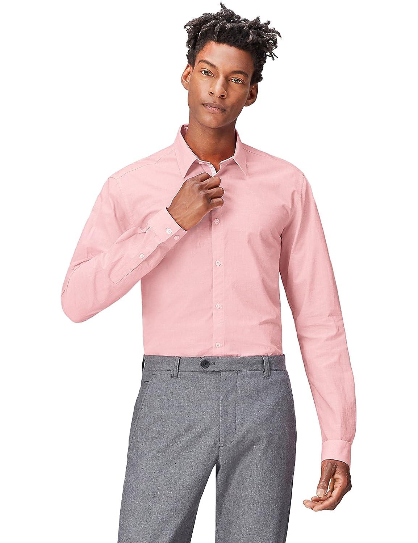TALLA 50 (Talla del Fabricante: Medium). find. Camisa Clásica Ajustada para Hombre
