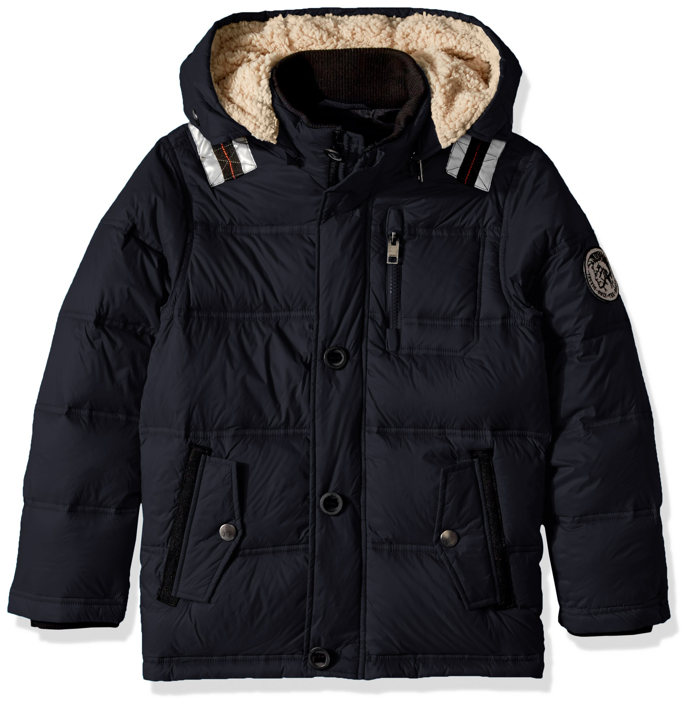 Diesel Boys' Little Outerwear Jacket (More Styles Available), Down Down Bubble/Black, 5/6