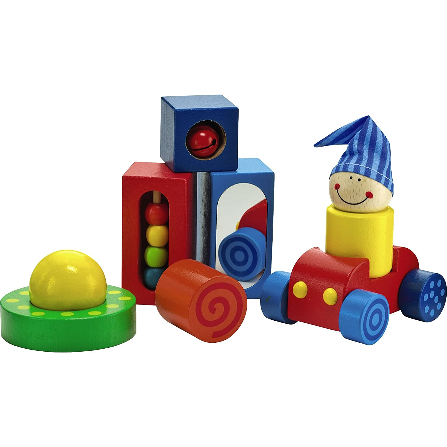 HABA Play Shapes 8 Piece First Building Block Set for Ages 12 Months and Up SG/_B0196UGQNE/_US