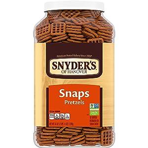Snyder's of Hanover Pretzel Snaps, Canister, 2.87 Pound, Canister Snaps, 46 Oz