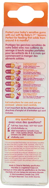 Baby Friendly Sevrage /& Dentition Cuillères 2 Pack