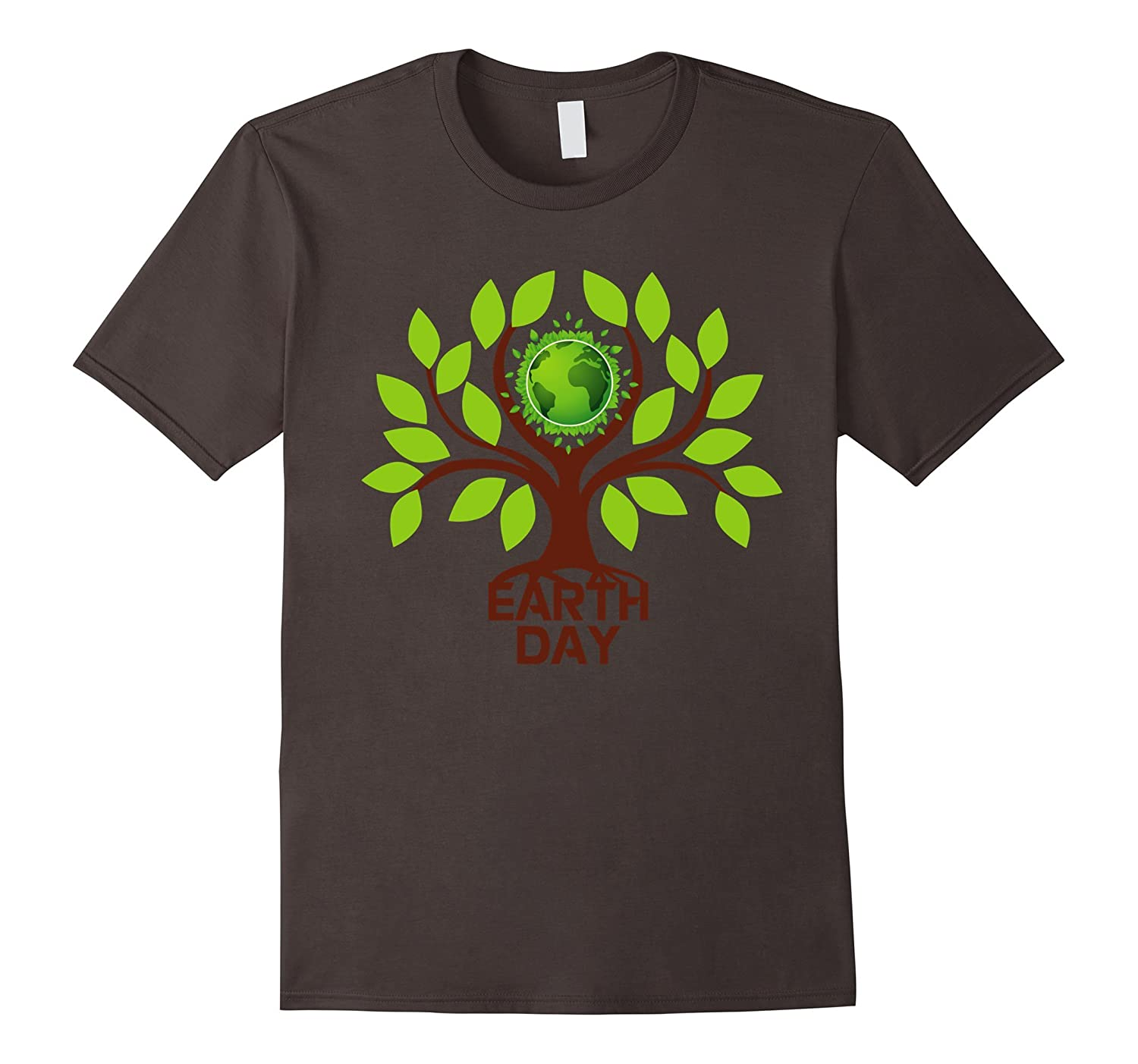 Earth Day 2017 Save Tree Nature Go Green Globe T-Shirts-TH