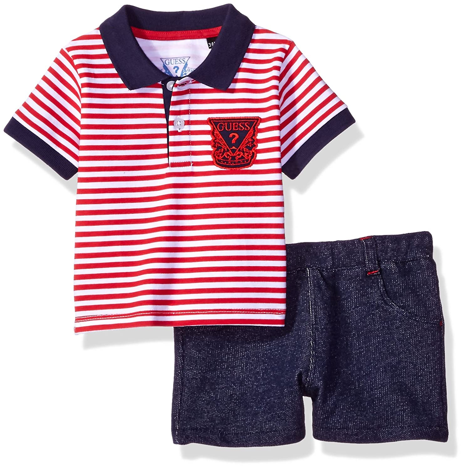 Amazon GUESS Baby Boys Set Striped Polo Shorts Clothing