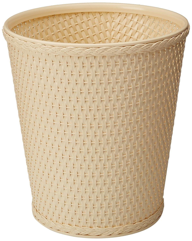 LaMont Home Carter Round Waste-Basket Ivory