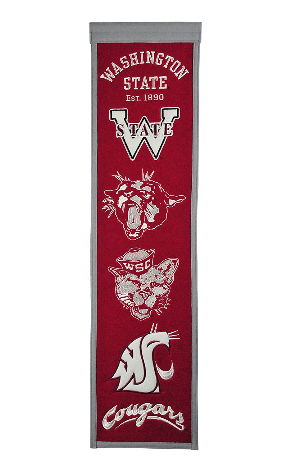 Winning Streak Sports NCAA Notre Dame Fighting Irish Heritage Banner - Vintage Notre Dame College Sports Wall Décor
