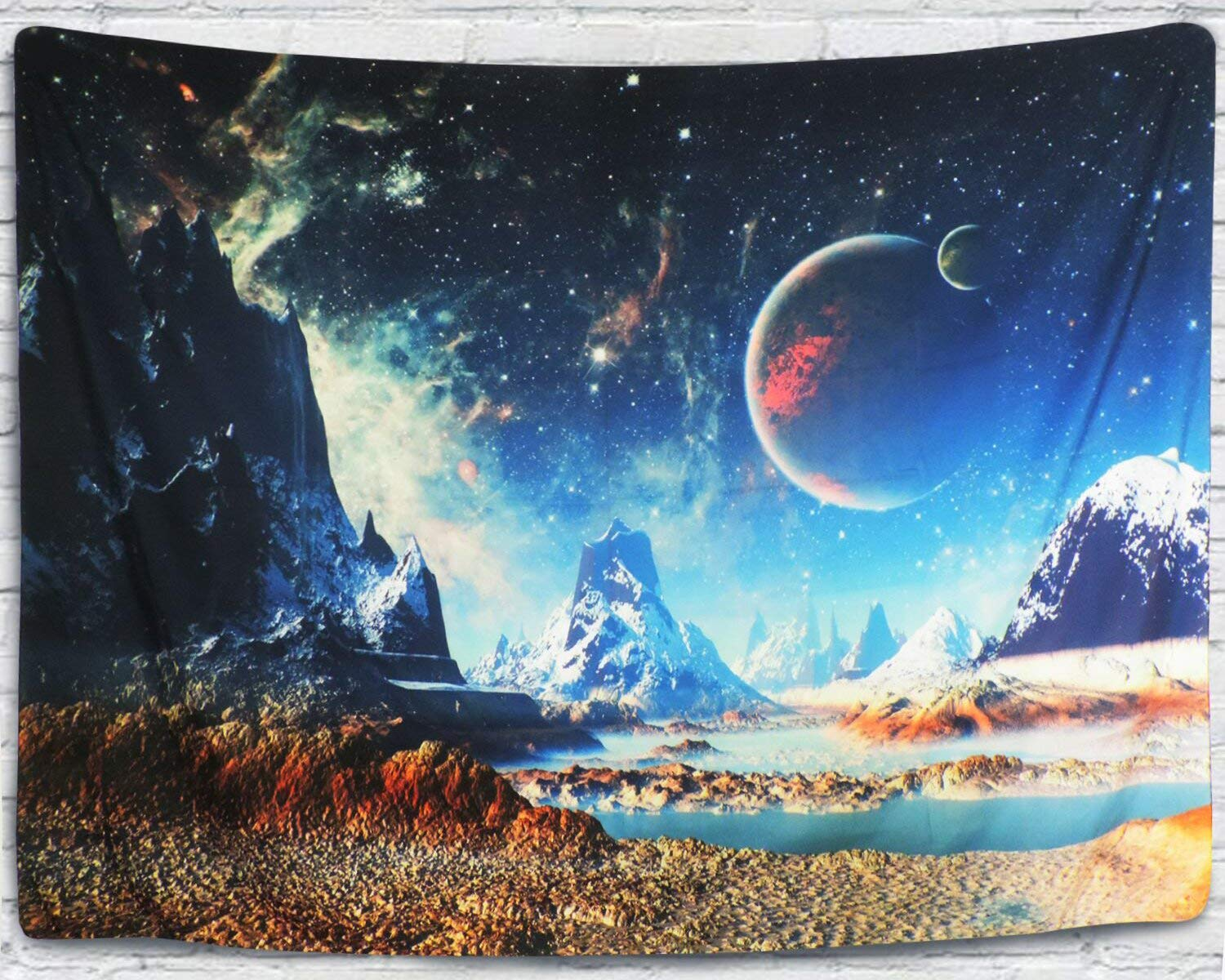 Tapestry Wall Hanging Wall Tapestry Galaxy Tapestry Planet Tapestry Psychedelic Tapestry Vintage Tapestry Home Decor