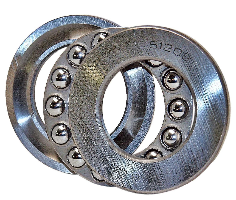 XMHF Bearing 51109 Thrust Ball Bearing Extra Light Series Single Direction Flat Seat Steel Cage 65mm x 45mm x 14mm 2PCS