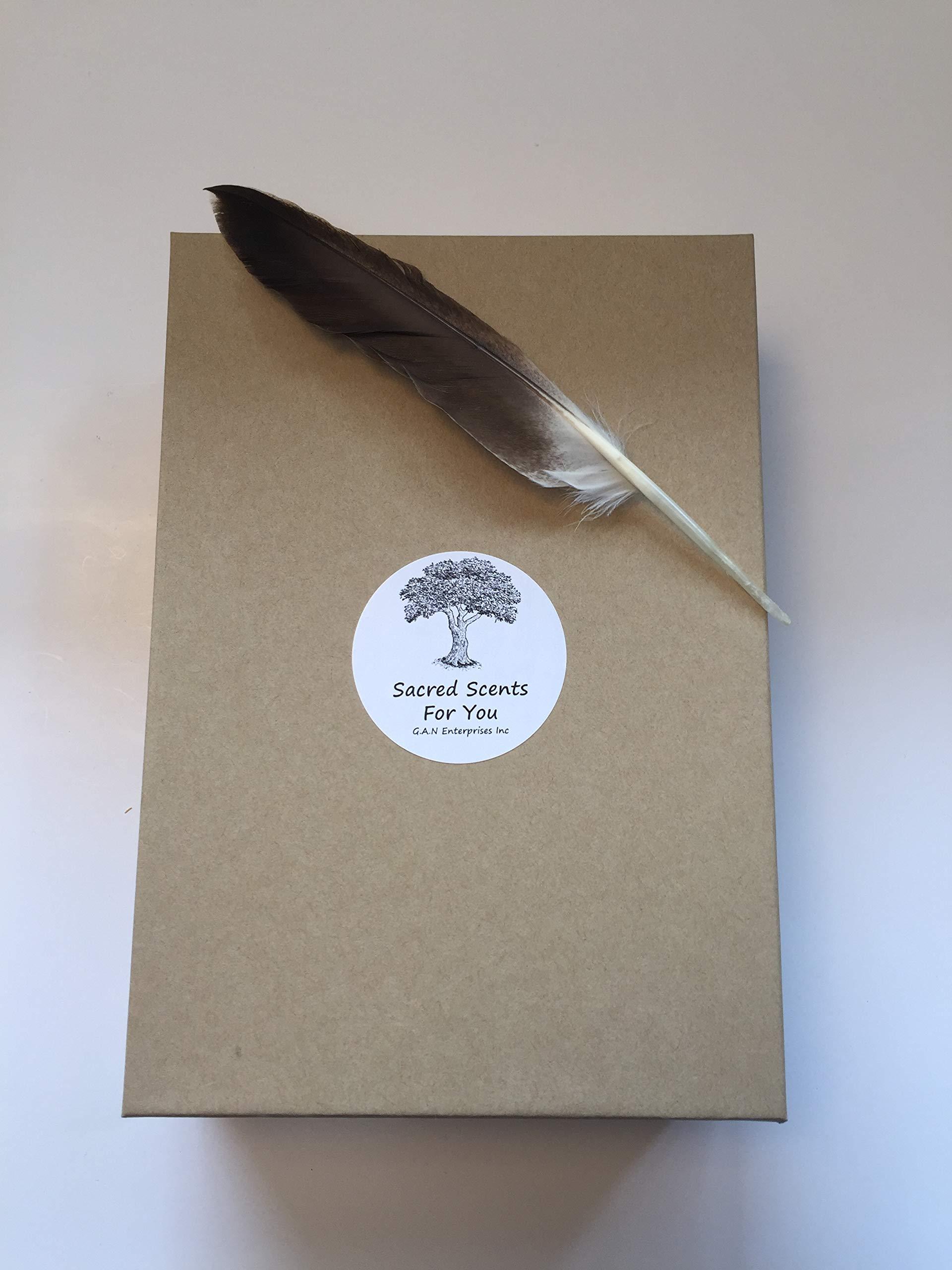 Sacred Scents For You Resin Incense and Sage Smudges Variety Gift Set Includes: Blue Sage, Cedar, White Sage & Palo Santo Wood. Frankincense, Myrrh & Mayan Copal Resins by Sacred Scents For You (Image #4)