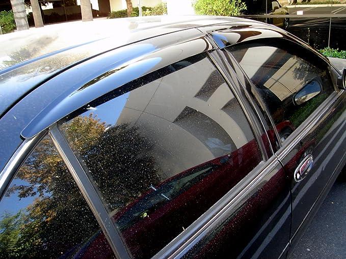 Pontiac Montana 1997-2004 Window Visor Sun Guard Outside Mount Dark Grey 2pcs
