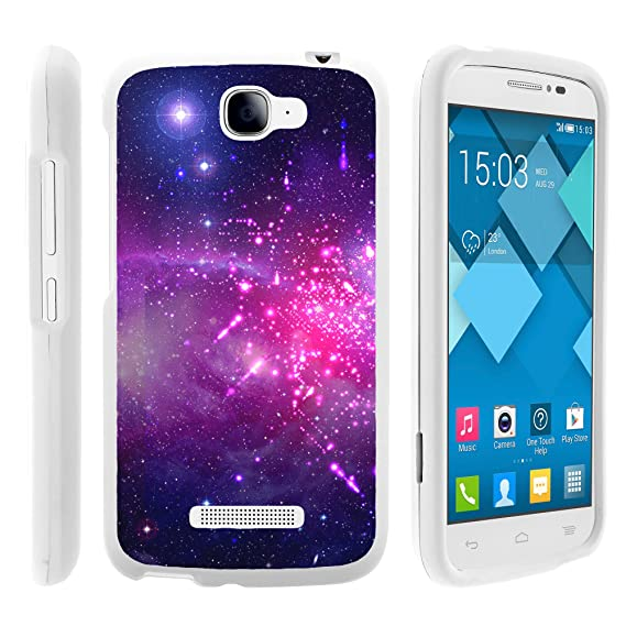 cheap for discount f94d9 ec9d6 MINITURTLE Compatible with Alcatel Fierce 2 7040T, Pop Icon A564C  Protective Slim Sleek 2 Piece Snap On - Heavenly Stars