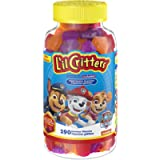 L'il Critters Paw Patrol Complete Gummy Multivitamin for Kids, Naturally Sourced Colours & Flavours, 190 Count