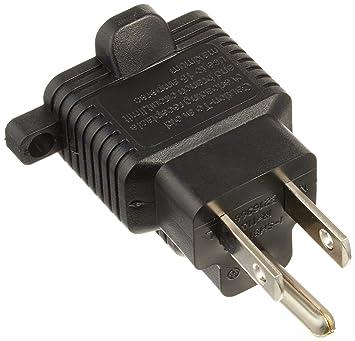 15-Amp to 20-Amp Plug Adapter, 20-Amp Socket to 15-Amp U.S 3 Prong ...