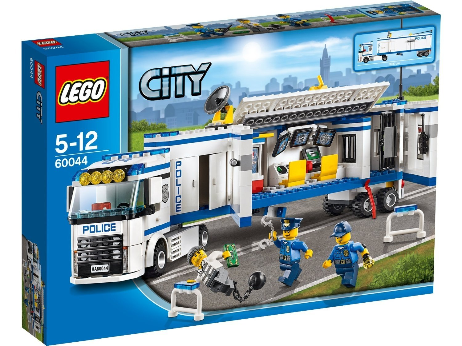 60044 LEGO City Mobile Police Unit Control Room Truck with 3 Minifigures